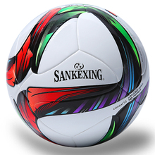 SANKEXING High Quality New Size 5 Standard Soccer Ball Soft Leather Teenagers And Adult Official Match Training Football Ball