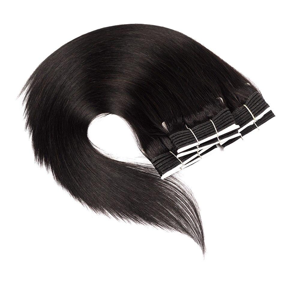 3 Pcs Silky Straight Brazilian Hair Weave Bundles Pinshair Pre-Colored Black 1B 3 Bundles Straight Human Hair Extensions Nonremy
