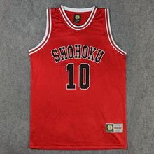 Shohoku School Basketball Team 1-15 Sakuragi Hanamichi Jersey Tops Shirt Sports Wear Uniform SLAM DUNK Cosplay Size M L XL XXL