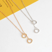 Angle Wings Star Key Double Circle lariat Pendant Necklaces Clavicle Chains Statement Necklace For Women Girl Fashion Jewelry