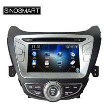 SINOSMART Updated WIN CE 8'' Car Multimedia Player DVD GPS Navigation for Hyundai Elantra Avante I35 2011-2013 Canbus Optional