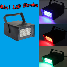 24 LED Mini Stage Lighting Disco Bulb Club Stage Lighting Mini Dj Strobe Light Flash Club Disco Bar Stage House Party Lighting(China)
