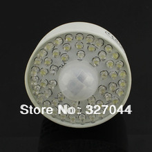 10pcs/lot E27 PVC body 54 PIR LED Motion Sensor Light Bulb Lamp E27 54 PIR Free Shipping