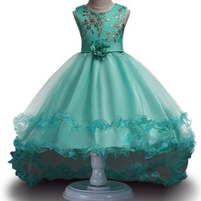 2017 New Children's Christmas Dresses For Girls Wedding Party Baby Girl Kids Prom Gown Dress Flower tutu Girl Clothing