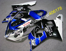 Hot Sales,For SUZUKI Fairing GSXR 600 750 2004 2005 K4 white black Blue Corona high grade motorcycle fairing (Injection molding)