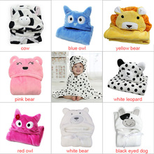 Baby Bathrobe Cartoon Towel Hooded Animal Modeling Cloak Character Kids Robe Infant Bath Towels  J2Y