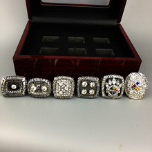 Free Shipping 1974 1975 1978 1979 2005 2008 Pittsburgh Steeler rings set super bowl replica championship ring for father's day(China)