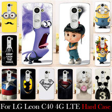 For LG Leon C40 4G LTE H340N H324 Hard Plastic Mobile Phone Cover Case DIY Color Paitn Cellphone Bag Shell  Shipping Free