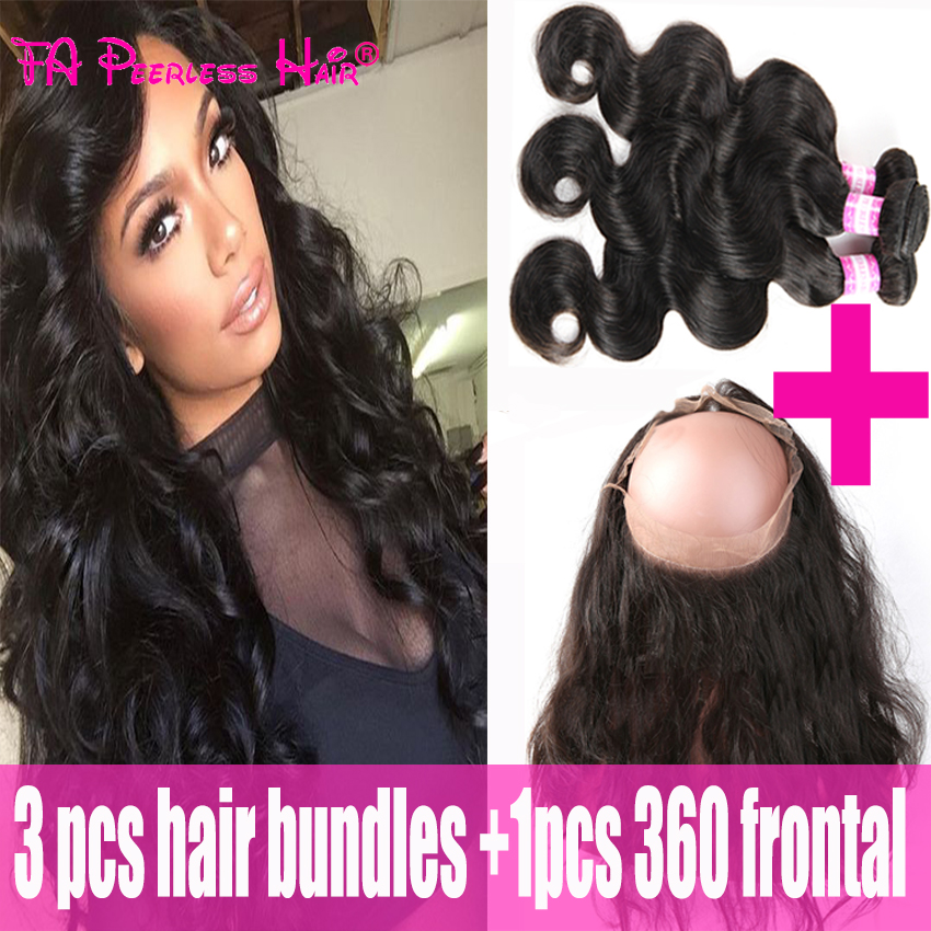 Cheap Full Head 360 Lace Frontal Wth Bundle Indian Virgin Hair Body Wave With 360 Lace Frontalclosure Fa Peerless 360 Frontal<br><br>Aliexpress