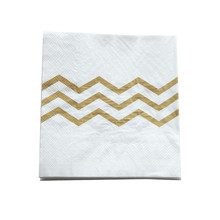 20pcs/lot Wedding Party Supplies Gold Wave Paper Napkin Imitation Bronzing Wave Pattern Towel Party Napkin Paper Decoration(China)
