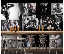 High Quality Hot Sale New Custom 3d murals wallpaper Hd sport gyms, handsome beauty photo background wall paper room wallpaper
