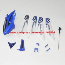 Syma S107 S107G RC Helicopter Spare Parts Blue head cover+main blade+tail decoration and fixed+mian shaft Free Shipping