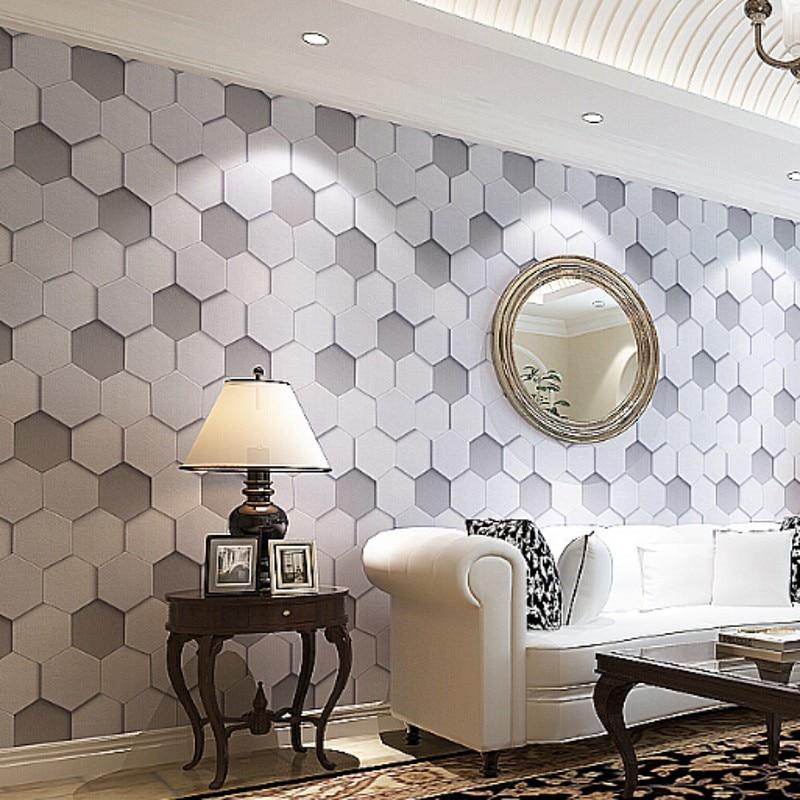 beibehang High Quality luxury realistic PVC vinyl 3d wallpaper roll grey beige bedside sofa tv background wall wallpaper wallcov<br>