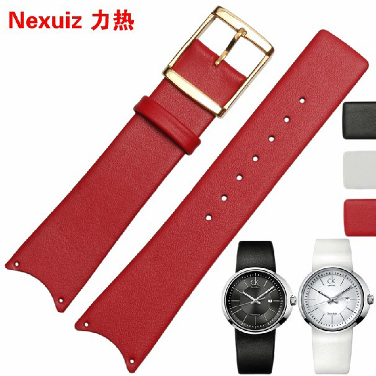 Fit KOH23300 K0H23100 KOV231 K0H23307 Leather watchband for brand special interface strap Black White Red  21mm curved end New<br><br>Aliexpress