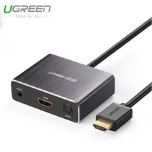 Ugreen HDMI audio splitter 4K high-definition computer revolution 7.1 5.1 stereo headphone fiber converter
