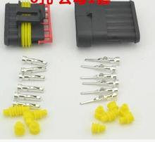 5 Sets 6 Pin Way Sealed Waterproof Electrical Wire Car Auto Connector Plug
