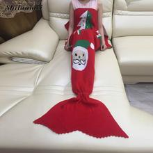 red deer christmas Mermaid Tail Blankets knitted bandana warm thick body blanket echarpe scarves hijab crochet hiver femme
