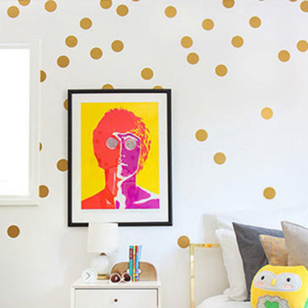 Online buy wholesale circle wall art from china circle for Polka dot wall decals for kids rooms