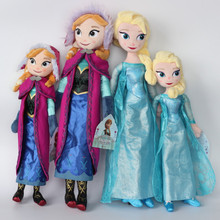 Disney Toys 40cm And 50cm Frozen  Elsa Anna Plush Toys Snow Queen Princess Dolls For Children Girls Birthday Christmas Gift