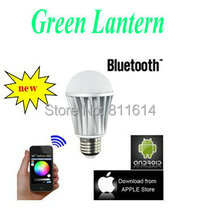 hotselling Wireless Bluetooth LED bulb RGB LED light lamp control IOS Apple Bluetooth phone control lights(China)