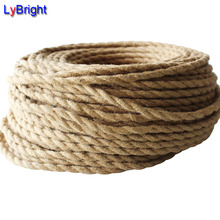 5 Meters 2x0.75 Vintage Rope Twisted Electric Wire Retro Braided Electrical Cable Antique Fabric Cable DIY Pendant Lamp Wire(China)