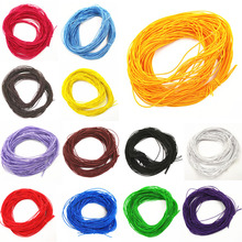 LNRRABC Fashion 1mmx24m Core Elastic Rope Stretch Rubber Line Beading Cord For DIY Bracelet Jewelry Making 13 Colors(China)