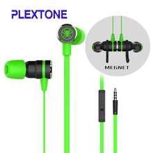 Plextone Small Hammerhead G20 Earphone With Mic In Ear Gaming Headsets Noise Isolation Stereo Comparison Razer Hammerhead V2 Pro(China)