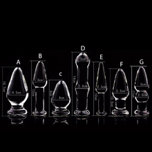 New Crystal Glass Penis Women Stimulated Anal G-Spot Butt Plug Orgasm Massager Gags&Practical Jokes