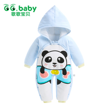 Newborn Rompers Baby Boy Romper Winter Long Sleeve Cotton Clothing Toddler Baby Clothes Jumpsuit Warm Cartoon Baby Boys Pajamas