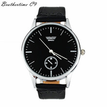 Durable Fashion watch Classic Man Woman's Quartz Electronic Analog Leather Band Strip Watch Business Electronics Gift Watch(China)