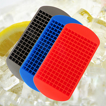 160 Ice Cubes Frozen Grids Bar Pudding Creative Silicone Tray Mould Mold Tool