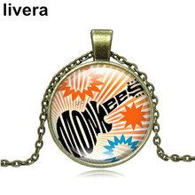 livera New Fashion 70s Music Symbol Pattern Time Gem Necklace Neutral Pendant Long Chain Necklaces Creative Design Nice Gift