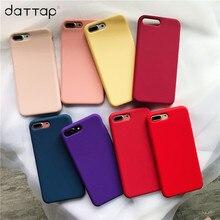 daTTap Original Soft Silicone Case Apple iPhone 6 6s 7 8 Plus Phone Cover iPhone X 6 s 6Plus 7 7Plus 8 8Plus Case Coque