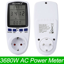 HiDANCE AC Power Meters 220v digital wattmeter eu energy meter watt monitor electricity consumption Measuring socket analyzer(China)