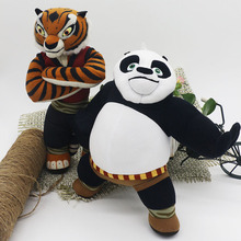 New Cute Cartoon Kung Fu Kungfu Panda Master Tigress & Po Plush Toys Lovely Stuffed Animal doll Kids Toy Children Birthday Gift