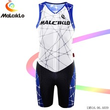 Malciklo cycling clothing Jumpsuit Sleeveless men 2017 Cobweb High-quality elastic tight Racing Bike Bicycle Coverall (9 Style)