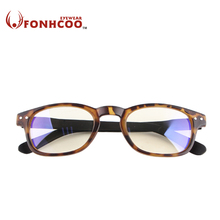 2017 FONHCOO New fashion leopard Vintage retro Anti Blue ray Glasses Radiation-Resistant protect goggles computer gaming glasses