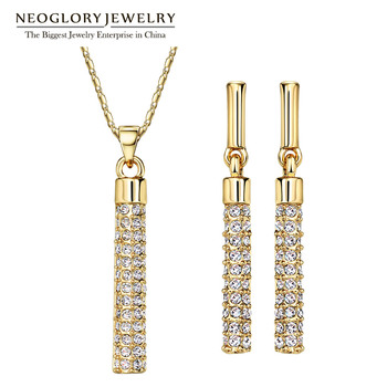 Neoglory Bridal Jewelry Sets MADE WITH SWAROVSKI ELEMENTS Rhinestone Gold Plated Necklaces Earrings for Women Wedding 2017