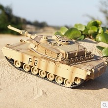 Hot Sell Big Size RC Tank for Kid Play XQTK24-1 Letter- M1A2 charging move Infrared Fighting Remote Control Tank Wholesale(China)