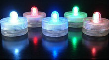 100pcs Super bright single LED Submersible candle tealight Waterproof Underwater Floral Light Wedding/Valentine xmas Party decor