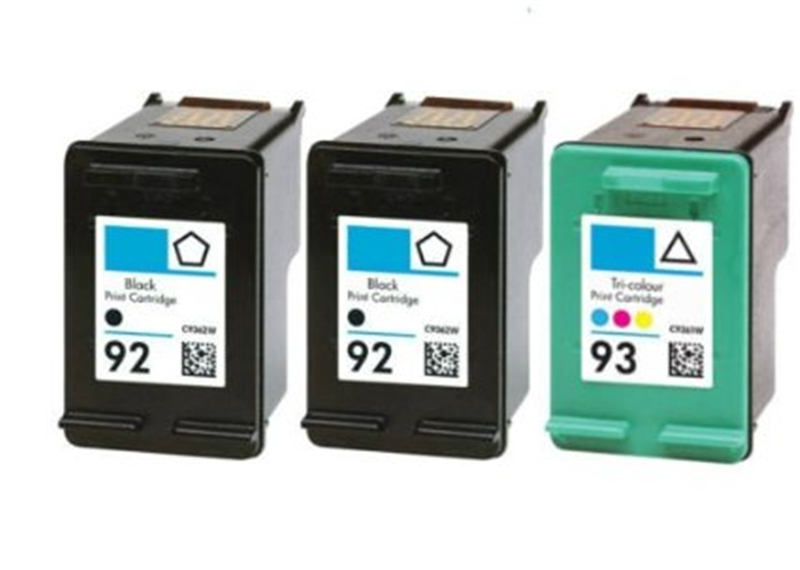 3Pk compatible for HP 92 93 for ink cartridge hp 92xl 93xl for HP 5420 5440 5442 6310 2575 7830 7850 C3135 C3140 C3150 printer<br><br>Aliexpress