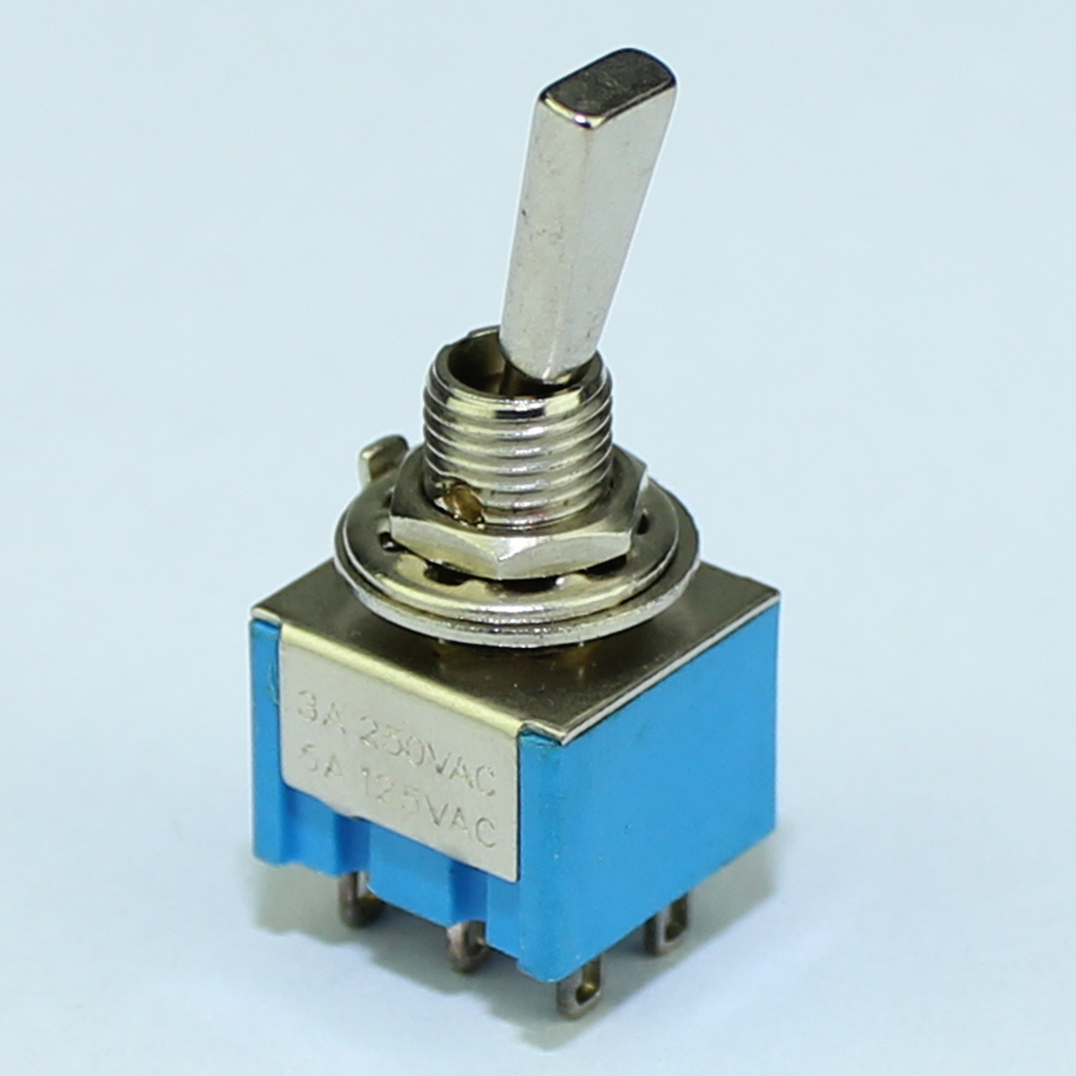 Blue Mini Guitar Toggle Switch 3 pin /& 6 pin 6A 125V ON-ON sold as a single item
