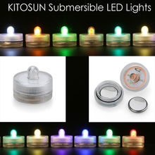 12pcs* Multicolor Waterproof submersible led tea light candle lights for wedding party christmas decorations
