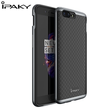 For Oneplus 3T Case Original IPAKY Brand Cover Case 1 plus 5 Silicon PC Hybrid Protective Cover With Frame Fundas Oneplus 5 Case