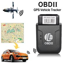 Mini OBD2 GPS tracker GPRS Real Time Tracker Car Tracking System With Geofence protect Vibration Phone SMS alarm alert tk206(China)