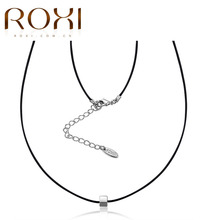 ROXI Choker Necklace Fashion Jewelry 2017 Women Platinum Square Pendant Necklace choker for women party gifts collares mujer(China)