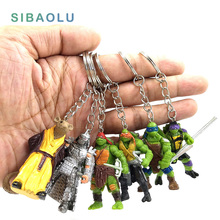 Turtle People Keychain Miniature Figurine Decoration fairy garden cartoon creature pvc craft Home decor kids gift(China)