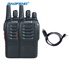 2pcs Baofeng Walkie Talkie BF-888S 5W UHF 400-470MHZ Handheld Portable CB Ham Radio walkie talkie Set communication equipment
