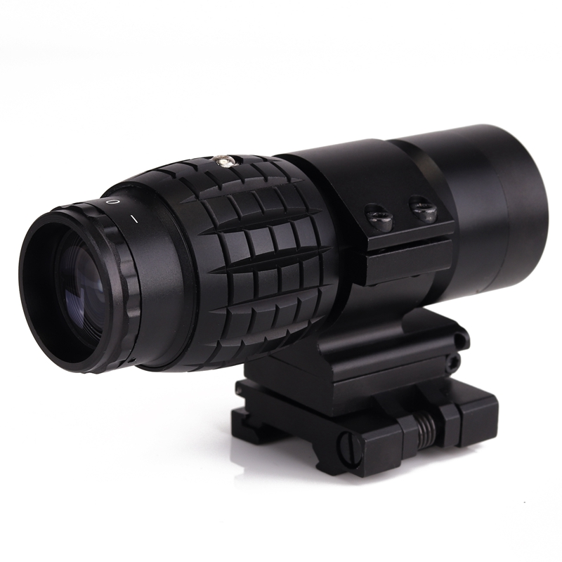 Tactical 3X Magnifier Scope Optics Scopes Riflescope Fits Aimpoint Sight with Flip To Side Picatinny Weaver Rail Mount<br>