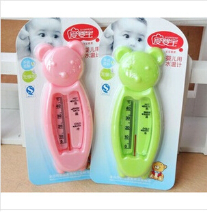 New Portable cute baby bath thermometer bear for Water temperature baby supplies products banheira baby water thermometer(China)